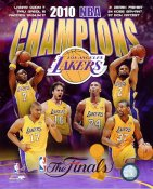Lakers 2010 Team NBA Champions Composition 8x10 Photo LIMITED STOCK