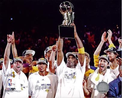 Lakers 2010 Team Celebration NBA Finals 8x10 Photo LIMITED STOCK