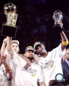 Derek Fisher & Kobe Bryant 2010 NBA Champs W/ Trophies Los Angeles Lakers 8x10 Photo LIMITED STOCK