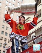 Patrick Kane With 2010 Stanley Cup At Victory Parade Chicago Blackhawks 8x10 Photo