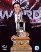 Ryan Miller W/ Vezina Trophy 2010 Buffalo Sabres 8x10 Photo