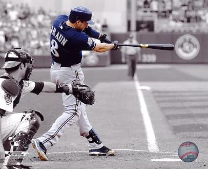 """Ryan Braun """"Spotlight""""  Milwaukee Brewers 8x10 Photo"""