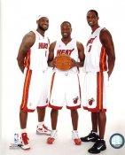 Chris Bosh, Dwyane Wade & Lebron James Miami Heat 8X10 Photo LIMITED STOCK