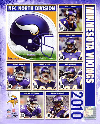 Vikings 2010 Minnesota Team 8X10 Photo