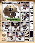 Saints 2010 New Orleans Team 8X10 Photo