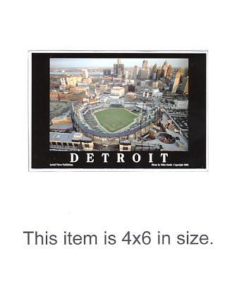 4X6 POSTCARD Comerica Park 1st Night Game 4/12/2000 Detroit 4x6 POSTCARD