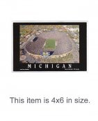 4X6 POSTCARD Michigan Stadium Wolverines 4x6 POSTCARD
