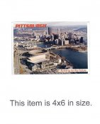 4X6 POSTCARD Heinz Field With PNC Park & Three Rivers Stadium 4x6 POSTCARD