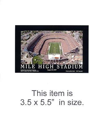 3.5X5.5 POSTCARD Mile High Stadium Denver Broncos 3.5x5.5 POSTCARD