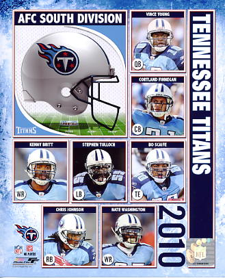Titans 2010 Tennessee Team 8X10 Photo