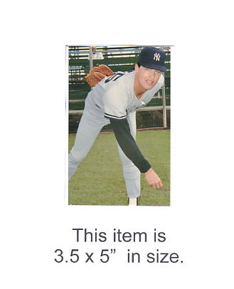 3.5X5 POSTCARD Bob Tewksbury NY Yankees 1986 Original TCMA 3.5X5 POSTCARD