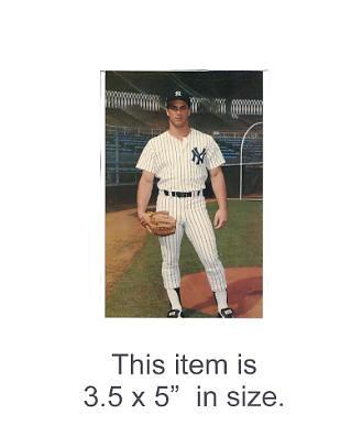 3.5X5 POSTCARD Dan Pasqua NY Yankees 1986 Original TCMA 3.5X5 POSTCARD