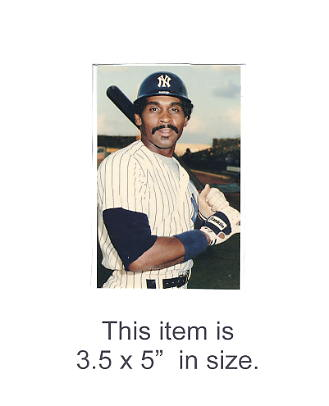 3.5X5 POSTCARD Mike Easler NY Yankees 1986 Original TCMA 3.5X5 POSTCARD