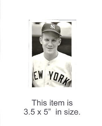 3.5X5 Edward Ford Photo By George Brace NY Yankees 3.5X5 Photo