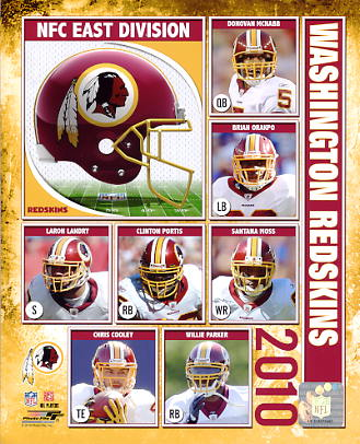Redskins 2010 Washington Team 8X10 Photo