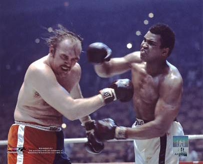 Muhammad Ali vs. Chuck Wepner 1975 Richfield Ohio LIMITED STOCK SATIN 8x10 Photo