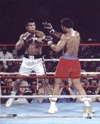 George Foreman vs Muhammad Ali 1974 Rumble in the Jungle Kinshasa Zaire SATIN LIMITED STOCK 8x10 Photo