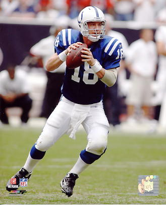 Peyton Manning Indianapolis Colts SATIN 8X10 Photo