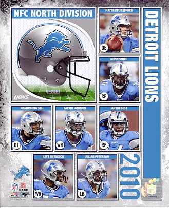 Lions 2010 Detroit Team 8X10 Photo