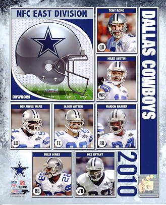 Cowboys 2010 Dallas Team 8X10 Photo