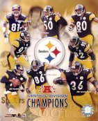 Hines Ward, Jerome Bettis, Kordell Stewart 2001 Division Champs G1 Limited Stock Rare Steelers 8X10 Photo