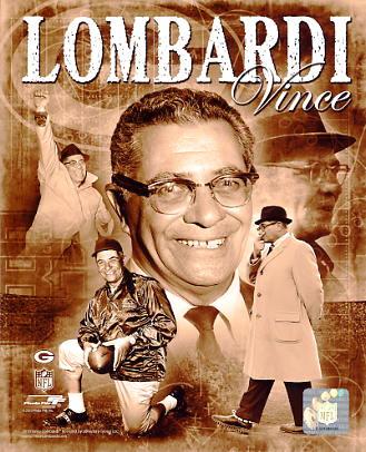 Vince Lombardi Portrait Plus Green Bay Packers 8X10 Photo