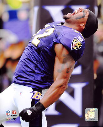 Ray Lewis Baltimore Ravens SATIN 8X10 Photo