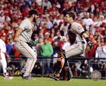 Brian Wilson & Buster Posey Celebrate 2010 NLCS Win San Francisco Giants 8X10 Photo  LIMITED STOCK