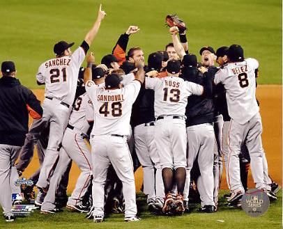 Giants 2010 San Francisco Celebrate 2010 NLCS Win Photo 8X10 Photo