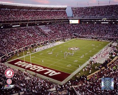 N2 Bryant Denny Stadium University of Alabama 8X10 Photo