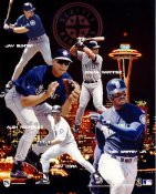 Ken Griffey Jr. ,Alex Rodriguez, Edgar Martinez Seattle Mariners 8x10 Photo
