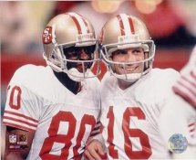 Jerry Rice & Joe Montana LIMITED STOCK San Francisco 49ers 8X10 Photo
