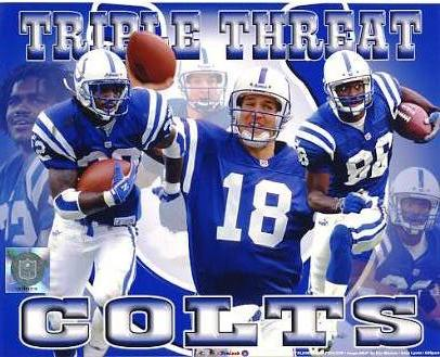 Edgerrin James,Marvin Harrison & Peyton Manning LIMITED STOCK Indianapolis Colts 8X10 Photo
