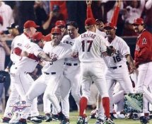 Darin Erstad & Team Celebrate World Series Win Anaheim Angels 8X10 Photo
