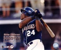 Rickey Henderson LIMITED STOCK 3000th Hit San Diego Padres 8X10 Photo