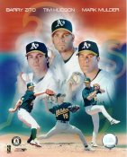 Barry Zito, Tim Hudson & Mark Mulder Small Corner Crease SUPER SALE Athletics 8X10 Photo