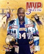 Shaq O'Neal LIMITED STOCK MVP 3 In a Row Los Angeles Lakers 8x10 Photo