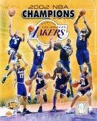 Rick Fox,Derek Fisher,Kobe Bryant & Shaq O'Neal 2002 Champions LIMITED STOCK Los Angeles Lakers 8x10 Photo