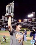 Matt Cain W/ World Series Trophy 2010 San Francisco Giants 8X10 Photo