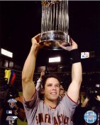 Buster Posey W/ World Series Trophy 2010 San Francisco Giants 8X10 Photo