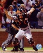 Buster Posey Game 5 Win 2010 World Series San Fran Giants 8X10 Photo