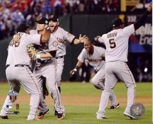 Pablo Sandoval, Freddy Sanchez & Cody Ross 2010 WS LIMITED STOCK San Francisco Giants 8X10 Photo