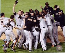 Giants 2010 San Francisco World Series Celebration Huddle 8X10 Photo
