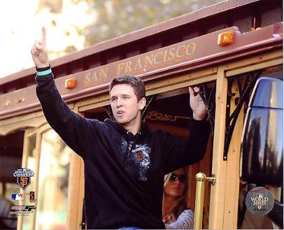Buster Posey 2010 World Series Parade San Fran Giants 8X10 Photo