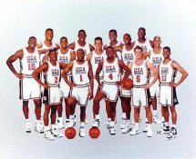 Team USA 1994 Dream Team Shaq O'Neal, Dominique Wilkins, Isiah Thomas, Joe Dumars, Reggie Miller LIMITED STOCK 8x10 Photo