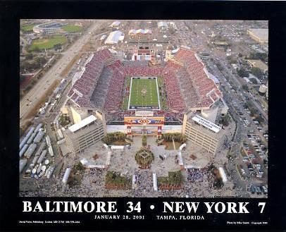 A1 Raymond James Stadium January 28, 2001 Baltimore vs New York 8x10 Photo