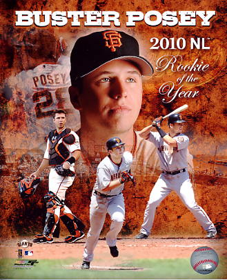 Buster Posey 2010 NL Rookie of the Year San Fran Giants 8X10 Photo