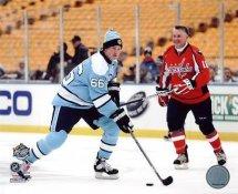 Mario Lemieux & Craig Laughlin 2011 Winter Classic Alumni Game Pittsburgh Penguins 8x10 Photo