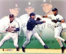 Nomar Garciaparra, Alex Rodriguez & Derek Jeter LIMITED STOCK Red Sox, Mariners, Yankees 8x10 Photo