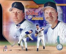 Randy Johnson & Curt Schilling LIMITED STOCK AZ Diamondbacks 8X10 Photo
